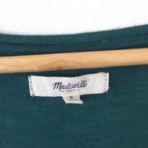 Madewell Tops - MADEWELL Long Sleeve Pocket Scoop Top Green S